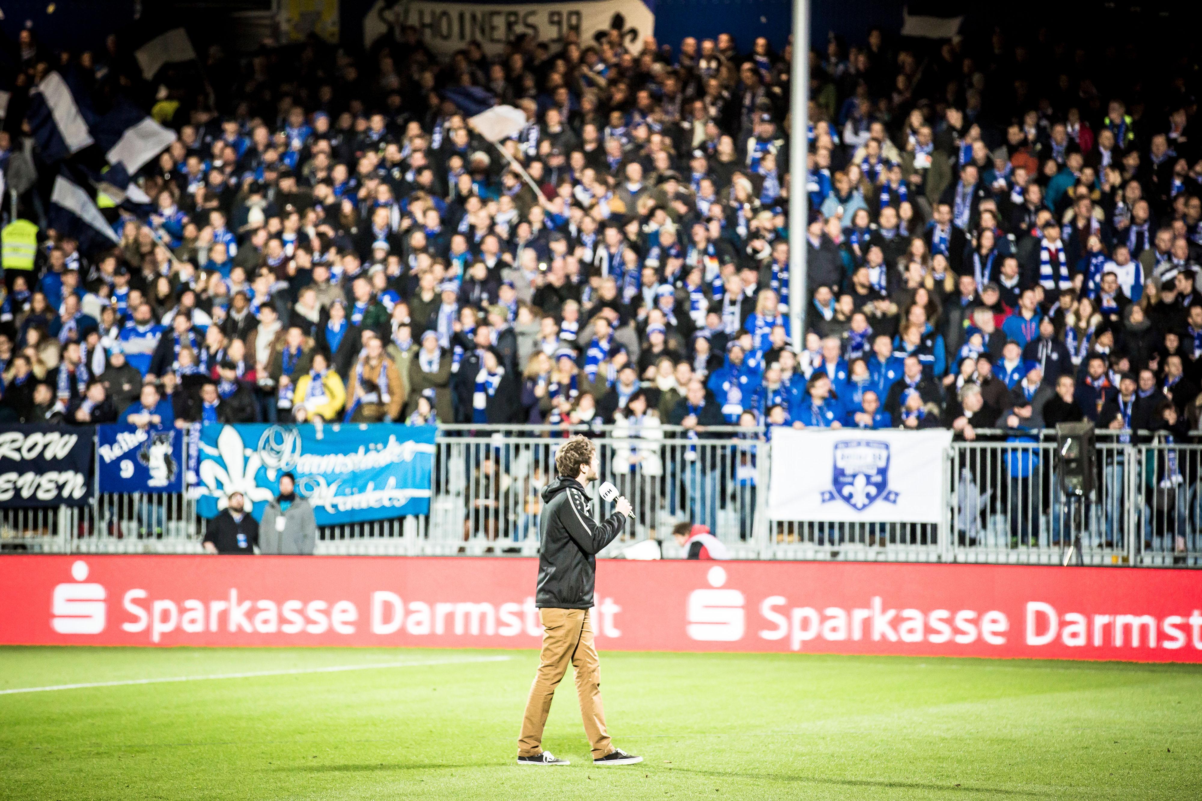 Fussball 2.Bundesliga, SV Darmstadt 98 - 1.FC Kaiserslautern